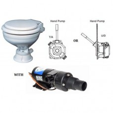 Popular Toilet with Self Priming Macerator and Manual Hand Pump