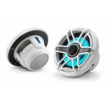 JL Audio - M6 6.5 inch Speakers - Gloss White Sports Grill with LED Lighting