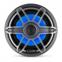 JL Audio - M6 6.5 inch Speakers - Gunmetal Sports Grill with LED Lighting