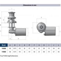 Lofrans SX3 Vertical Windlass - Low profile