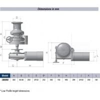 Lofrans SX5 Vertical Windlass - Low profile