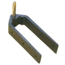 18.07 - 8mm Bottom 38mm Rudder Pintle 3-Hole Mounting
