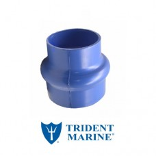 Trident 3 inch moulded silicone bellow hose - single hump