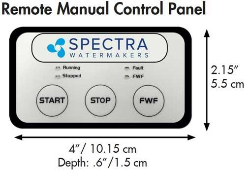 remote control panel dimensions
